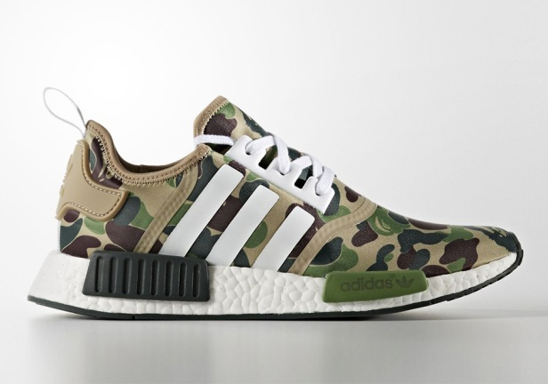 100% authentic c57f4 8df09 BAPE X ADIDAS NMD R1 (OLIVE)